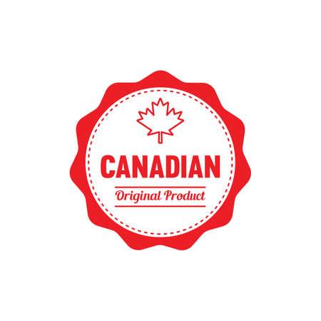 カナダ オリジナル製品ラベルのイラスト。 写真素材 - 81533996