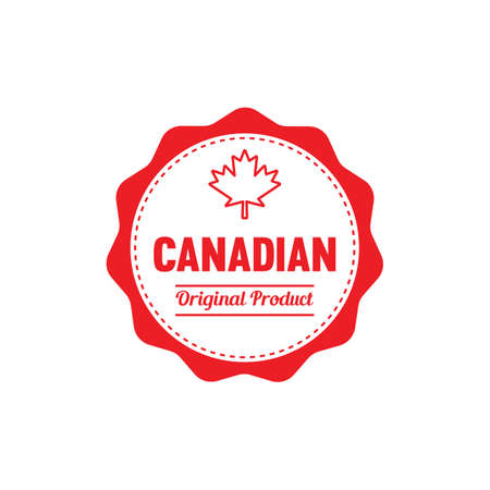 A canadian original product label illustration. Ilustrace