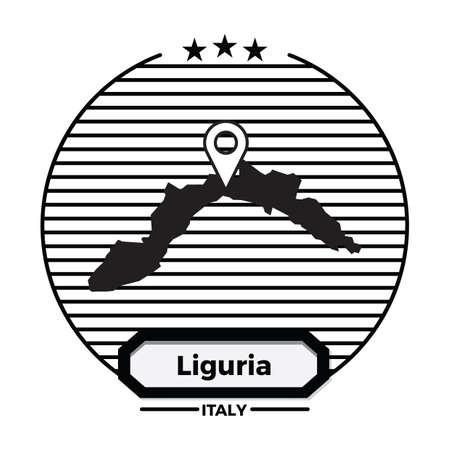 liguria map label