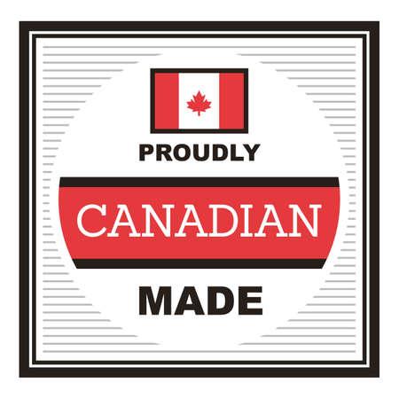誇らしげにカナダ製ラベル 写真素材 - 81535196