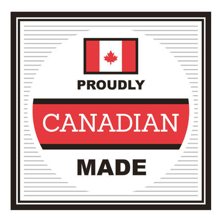 proudly canadian made label Illustration