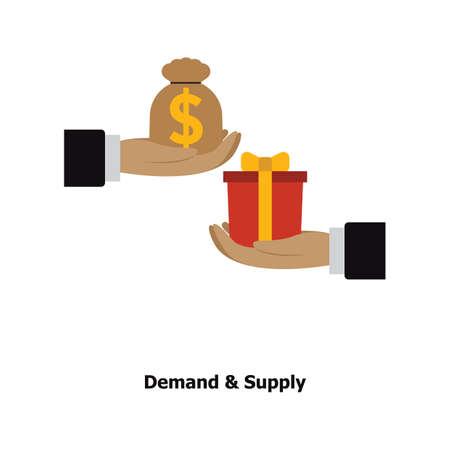 需要と供給の概念  イラスト・ベクター素材