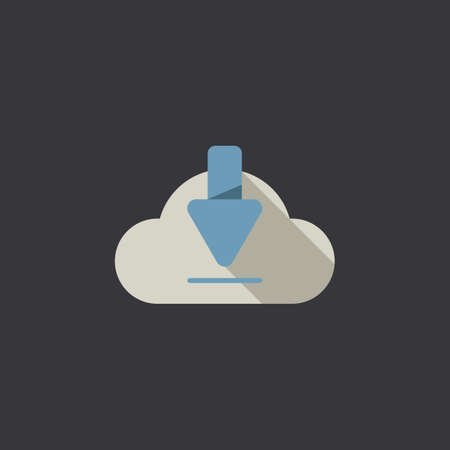 A cloud download icon illustration. 向量圖像