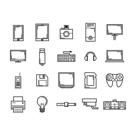 Colección de iconos de tecnología Foto de archivo - 81533063