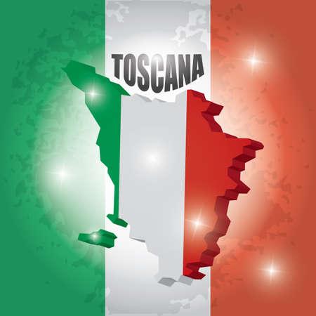 Toscana kaart Stock Illustratie