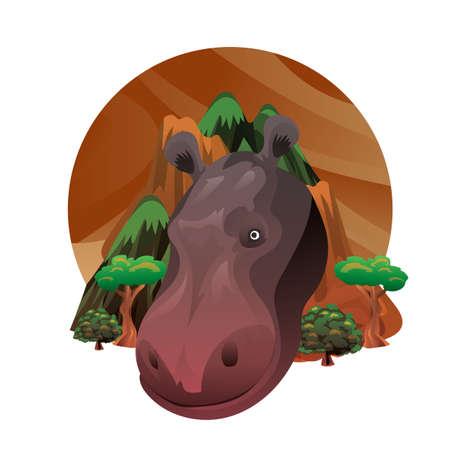 hippopotamus Ilustração