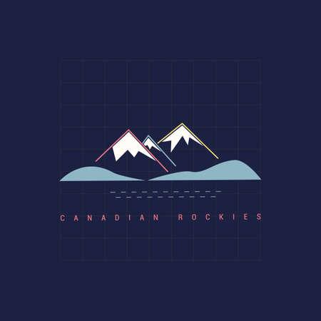 캐나다 로키 일러스트