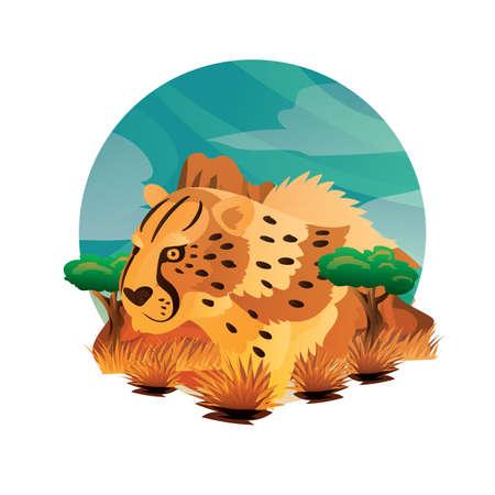 cheetah Illustration