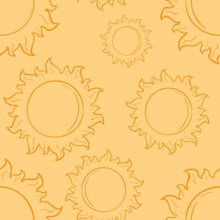 sun pattern background Ilustração