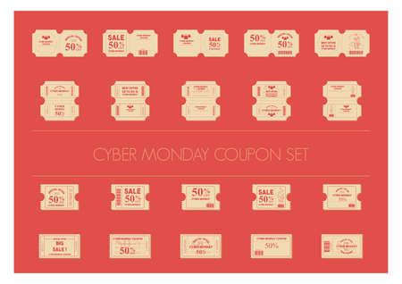cyber monday coupon set
