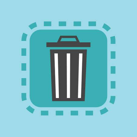 Icono de la papelera de reciclaje Foto de archivo - 81534010