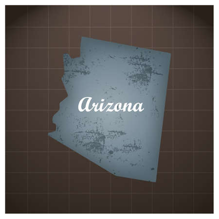 Arizona State kaart Stock Illustratie
