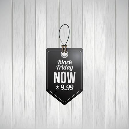 Zwarte vrijdag verkoop tag
