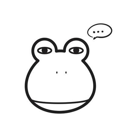 カエルのイラスト。  イラスト・ベクター素材