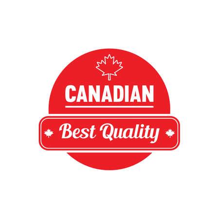 A canadian best quality label illustration.