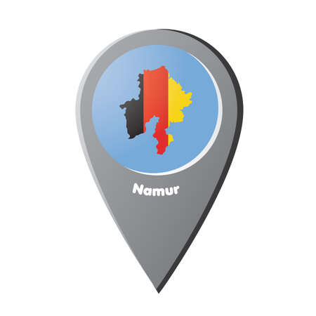ナミュールの地図とマップ ポインター
