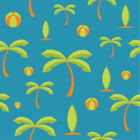seamless beach pattern background