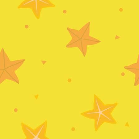 starfish seamless background Иллюстрация