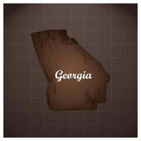 조지아 주지도
