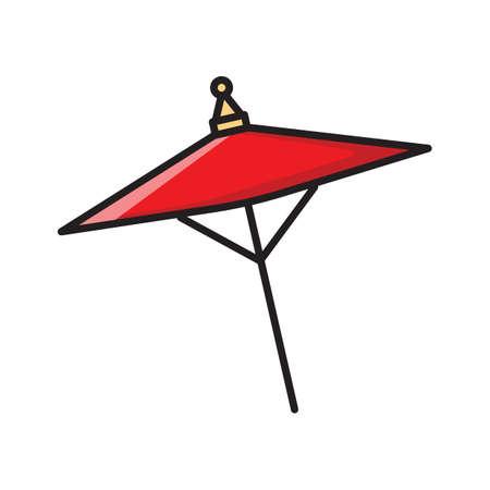 wagasa umbrella Ilustração
