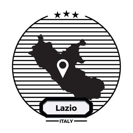 lazio map label