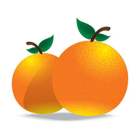 주황색 일러스트