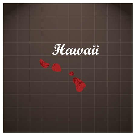 Hawaï staat kaart Stock Illustratie