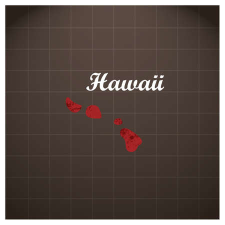 hawaii state map Stock Vector - 81484218