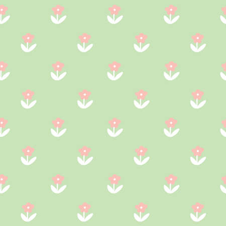 A seamless flower background illustration. Imagens - 81534021