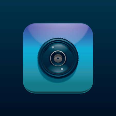 camera icon Banco de Imagens - 106668033