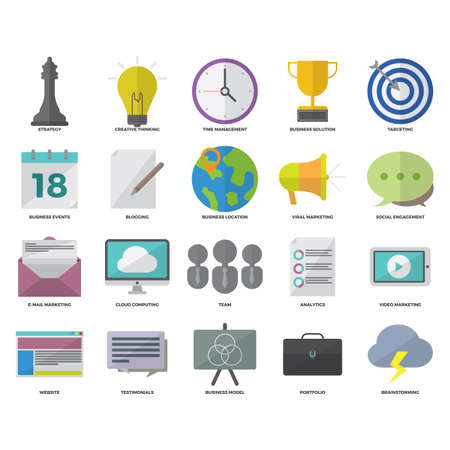 Collection of business icons