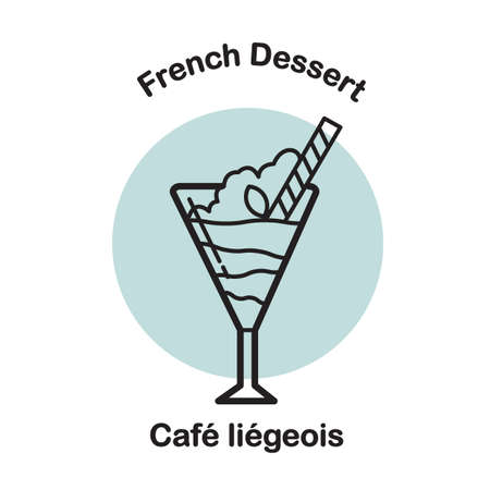 cafe liegeois Ilustrace