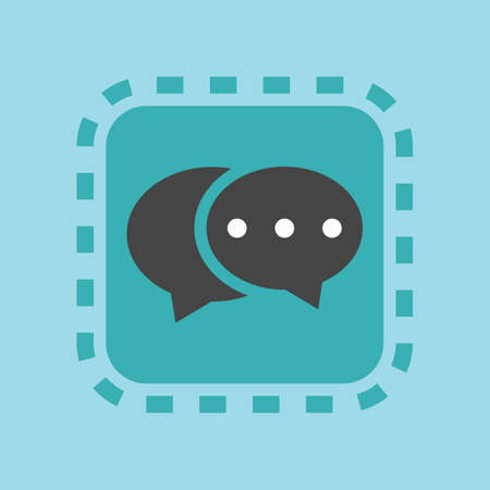 A chat icon illustration.