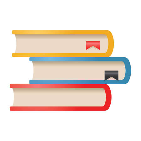 A stack of books illustration. Çizim