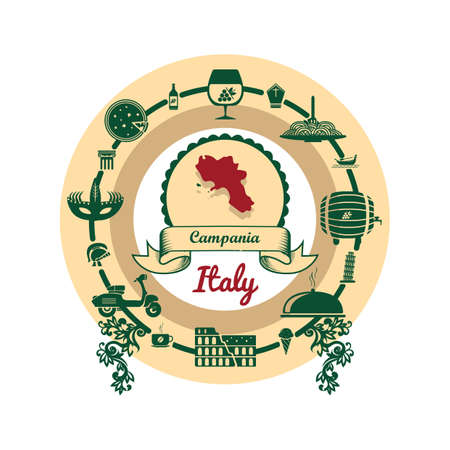 campania map label