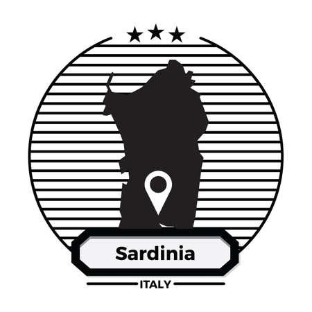 sardinia map label