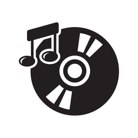 vinyl with musical note