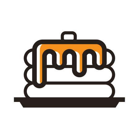 パンケーキのイラスト。  イラスト・ベクター素材