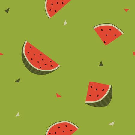 watermelon slices seamless background