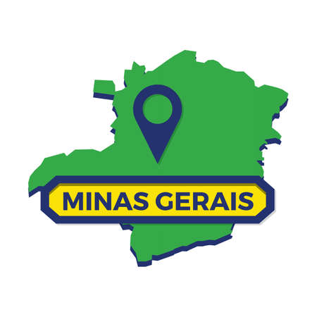 minas gerais map with map pin