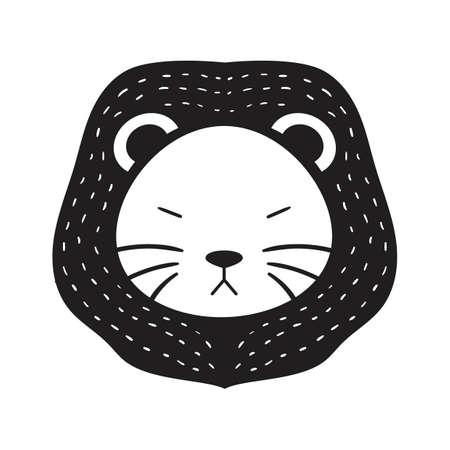 A lion illustration.