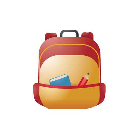 Een illustratie van de schooltas.