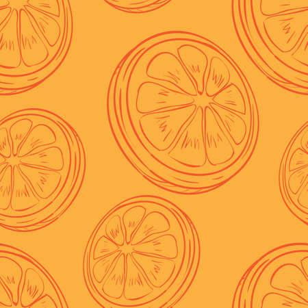 オレンジ スライスの背景
