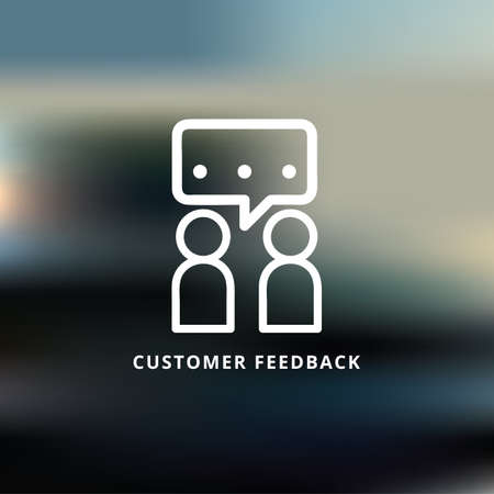 customer  feedback Ilustrace