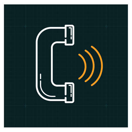 A phone call icon illustration.
