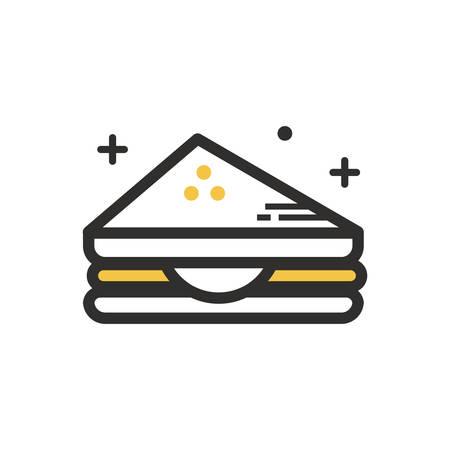 サンドイッチ イラスト。  イラスト・ベクター素材