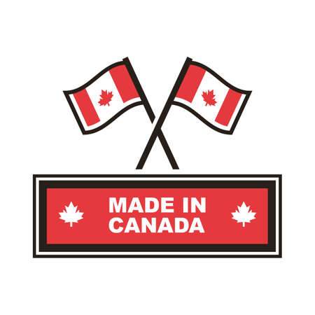 Made in canada label 向量圖像