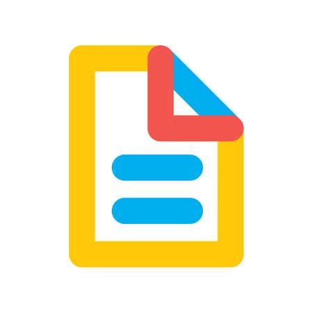 Een document blad pictogram illustratie. Stock Illustratie