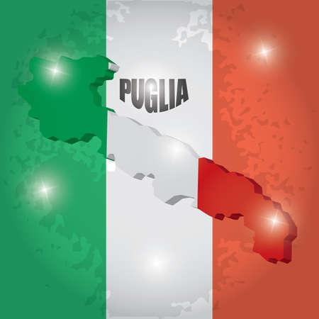 Puglia map Reklamní fotografie - 81589675