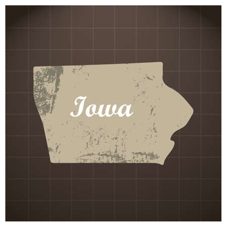 iowa: iowa state map Illustration